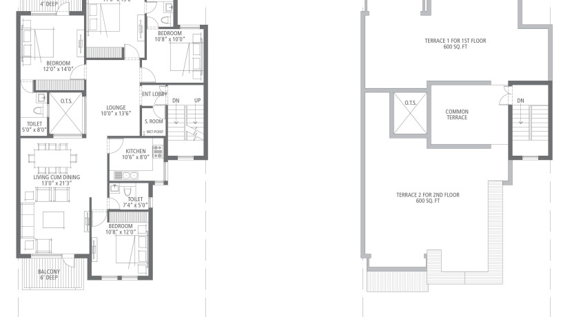 4bhk 2nd floor plan