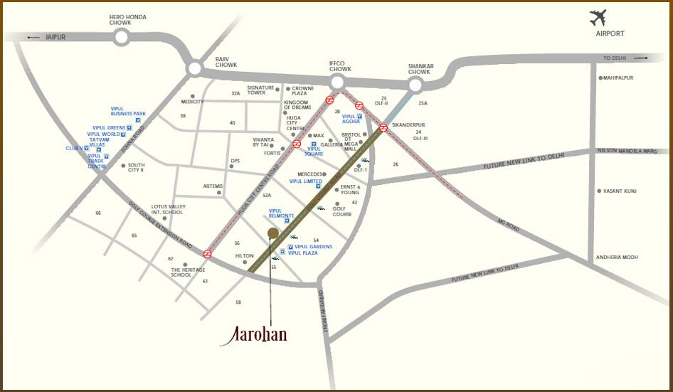 vipul aaroham location plan